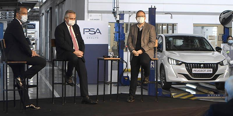 Groupe PSA presentó oficialmente el Nuevo PEUGEOT 208 al Presidente de la Nación Argentina, Dr. Alberto Fernández