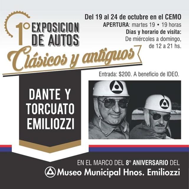 """Exposición de autos clásicos y antiguos """"Dante y Torcuato Emiliozzi"""""""