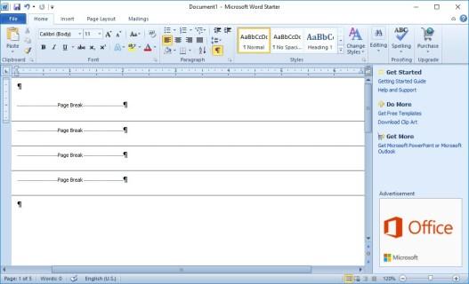 Как удалить разрывы страниц в Word