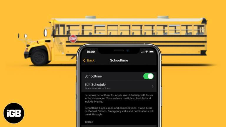 Как использовать школьное время на Apple Watch в watchOS 7