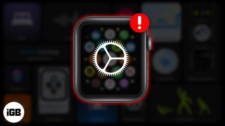Не удается обновить watchOS 7?  Ознакомьтесь с этими советами