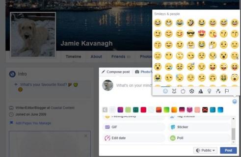 Как использовать эмодзи на Facebook