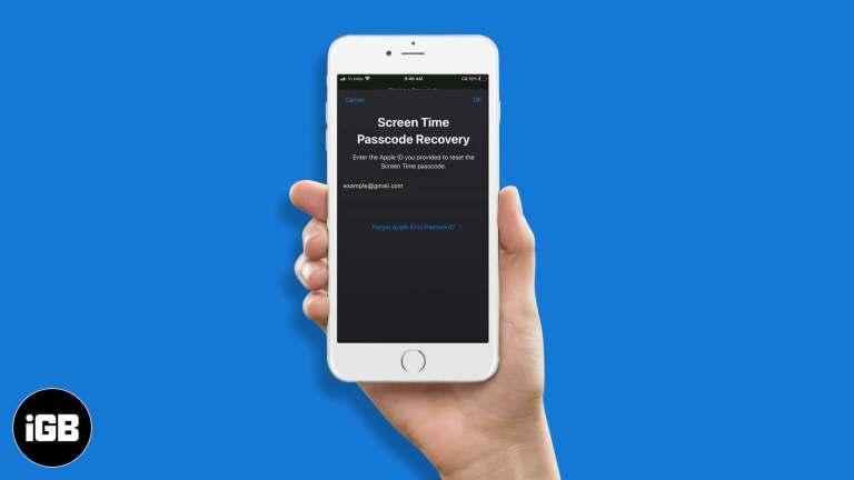 Как сбросить пароль экранного времени на iPhone или iPad в iOS 14/13