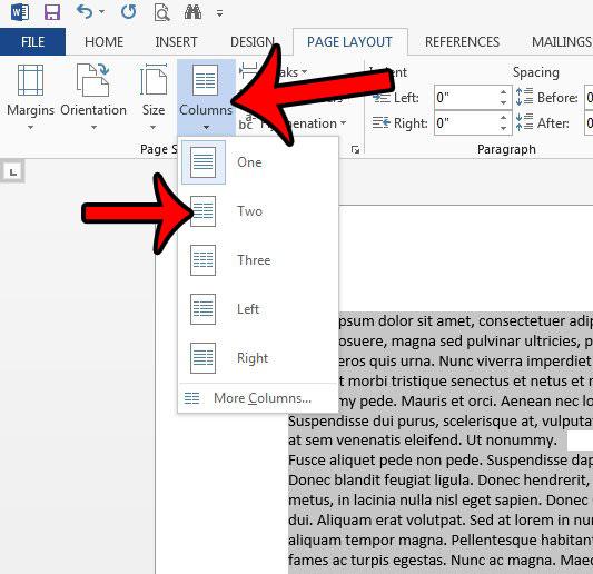 Как добавить столбец в Word 2013