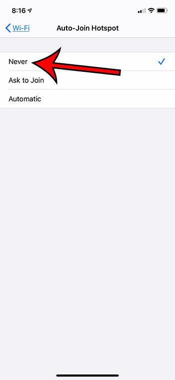 Как перестать автоматически подключаться к точкам доступа на iPhone 11