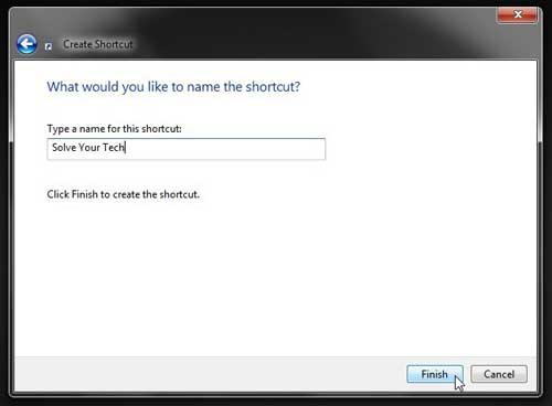 Как создать ярлык на рабочем столе для веб-сайта в Windows 7