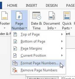 Как удалить номер страницы с первой страницы в Word 2013