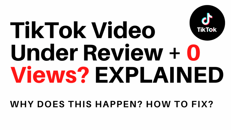 Why is my tiktok video under review? 0 views.