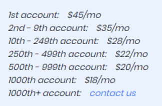 Autotokker tiktok bot pricing. Agency prices