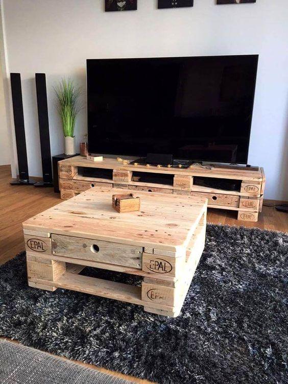 18 idees creatives de meuble tv en palette