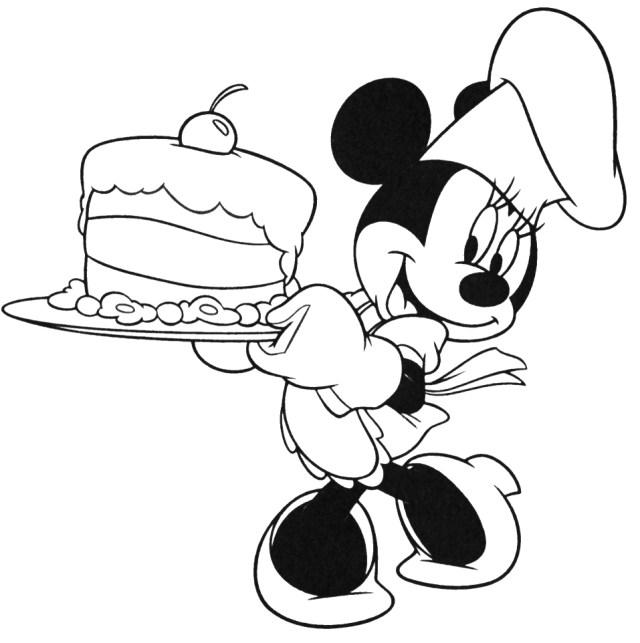 Coloriage de Thanksgiving de Disney gratuit à imprimer et colorier