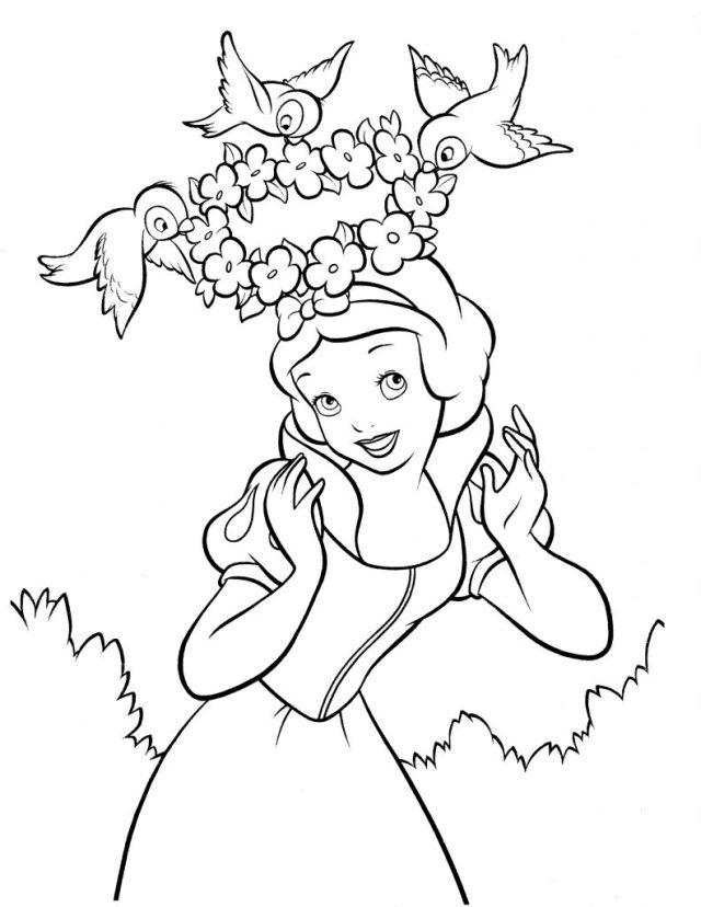 Coloriage Blanche Neige gratuit à imprimer et colorier
