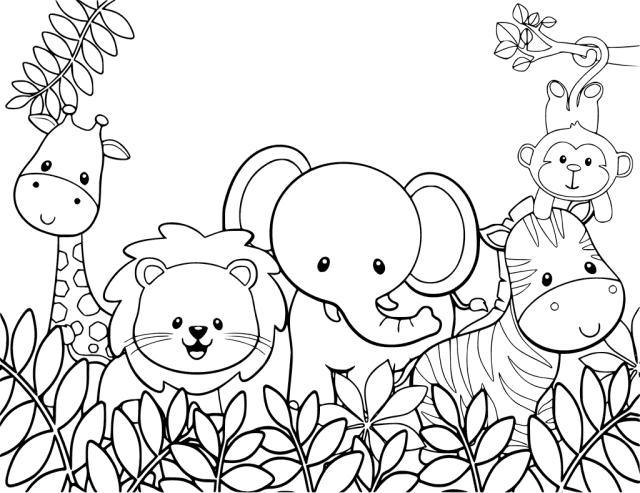 Coloriage animaux mignons gratuit à imprimer et colorier