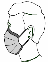 port d'un masque chirurgical