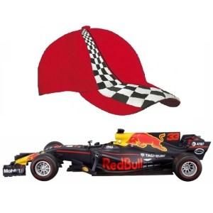 Modelauto Max Verstappen 1:43 met rode pet