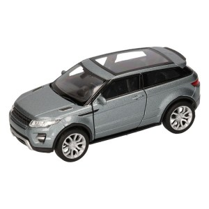 Speelgoed Land/Range Rover Evoque zilver Welly autootje 1:36