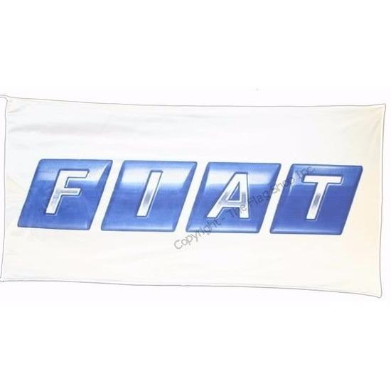 Logo vlag Fiat 150 x 75 cm