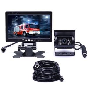 F0505 7 inch HD auto 18 IR LEDs Achteruitrij camera achteruitkijkspiegel monitor met 10m kabel