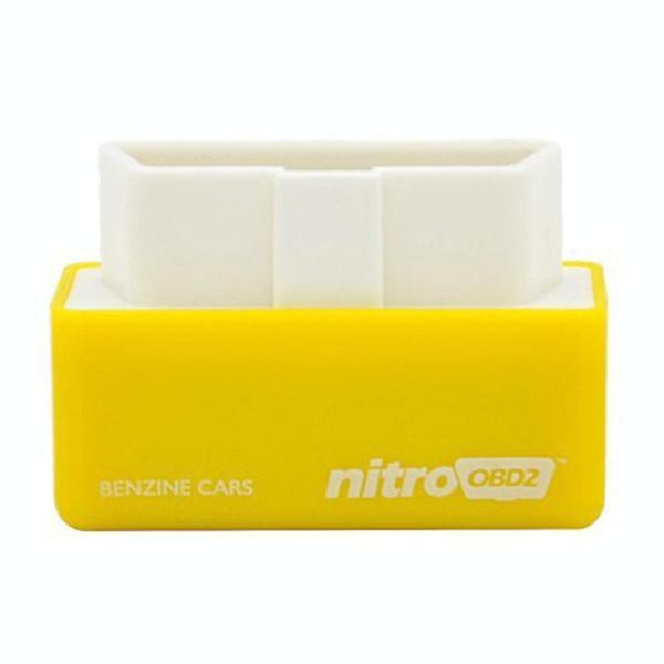 Super Mini EcoOBDII Plug en station Chip Tuning Box voor Benzine lagere brandstof en lagere Emission(Yellow)