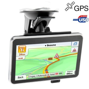 4 3 inch TFT Touch-screen Car GPS Navigator Ingebouwde luidspreker ingebouwd 4GB geheugen en kaart zonder Bluetooth resoluties: 480 x 272 (Zwart)