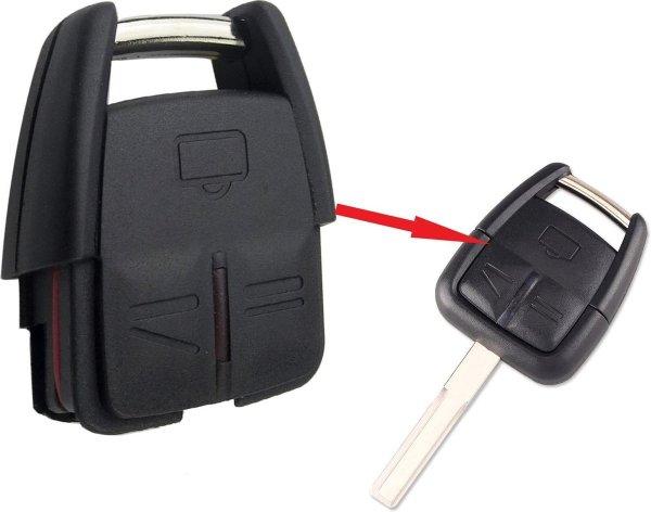 Autosleutel 3 knoppen HURSG8N behuizing geschikt voor Opel sleutel / Astra / Combo / Corsa / Frontera / Insignia / Meriva / Mokka / Omega / Signum / Tigra / Vectra / Zafira / opel autosleutel (H-3B)