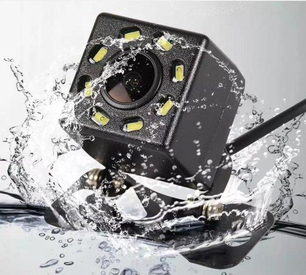 Universeel RCA Achteruitrijcamera met 8 LED - Nachtzicht - IP68 Waterdicht - Achteruitrij Camera Auto - Autoradio