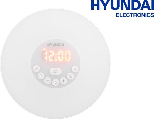 Hyundai Electronics Led Wake Up Light Wekker - 17x17 Cm - Wit