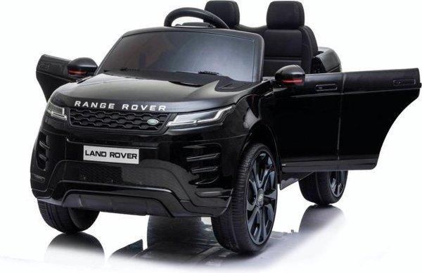 Range Rover Evoque - Elektrische Kinderauto - 2 Peroons Kinderauto - Zwart - Muziek module - Lederen stoelen - Rubberen Banden - Afstand Bestuurbaar
