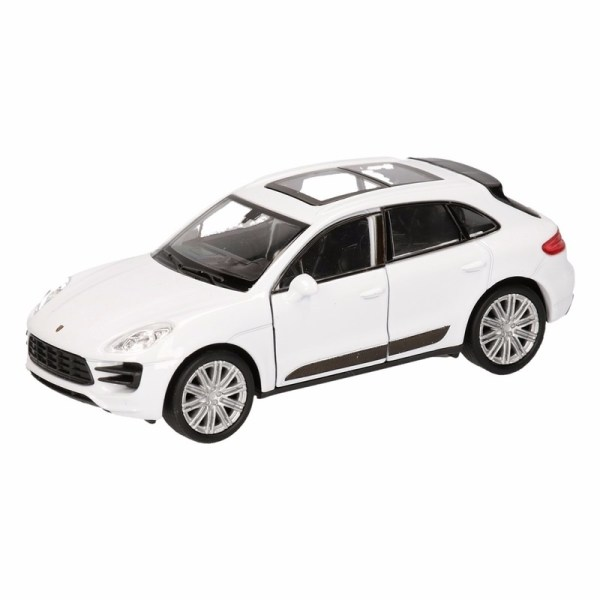 Speelgoed witte Porsche Macan Turbo auto 12 cm