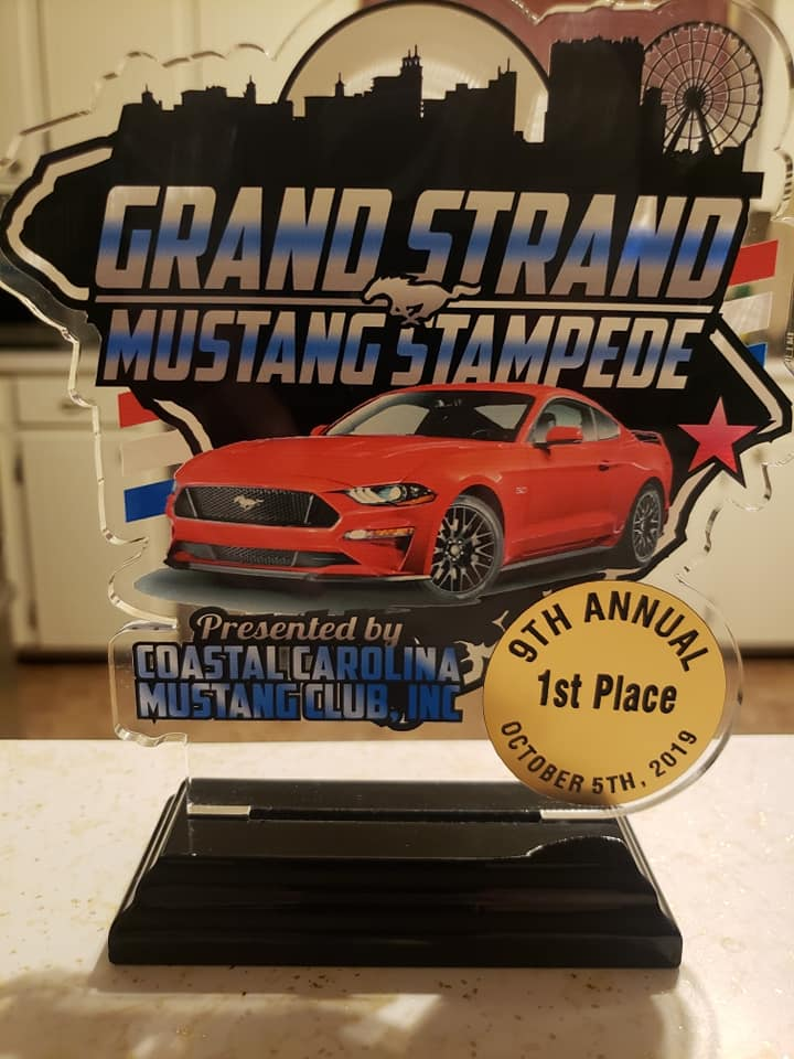 AutoworX Detailing Myrtle Beach Grant Strand Mustang Stampede First Place Win Mustang GT