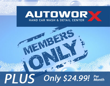 AutoworX Wash Club PLUS Myrtle Beach SC Hand Wash Club VIP Treatment Detailing Discounts