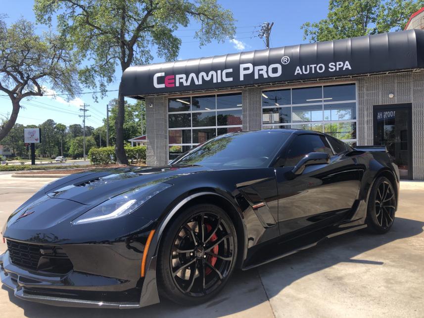 AutoworX Pro Detailing Myrtle Beach SC 2017 Corvette Grand Sport Detailing Full Font Havaca Ceramic Pro