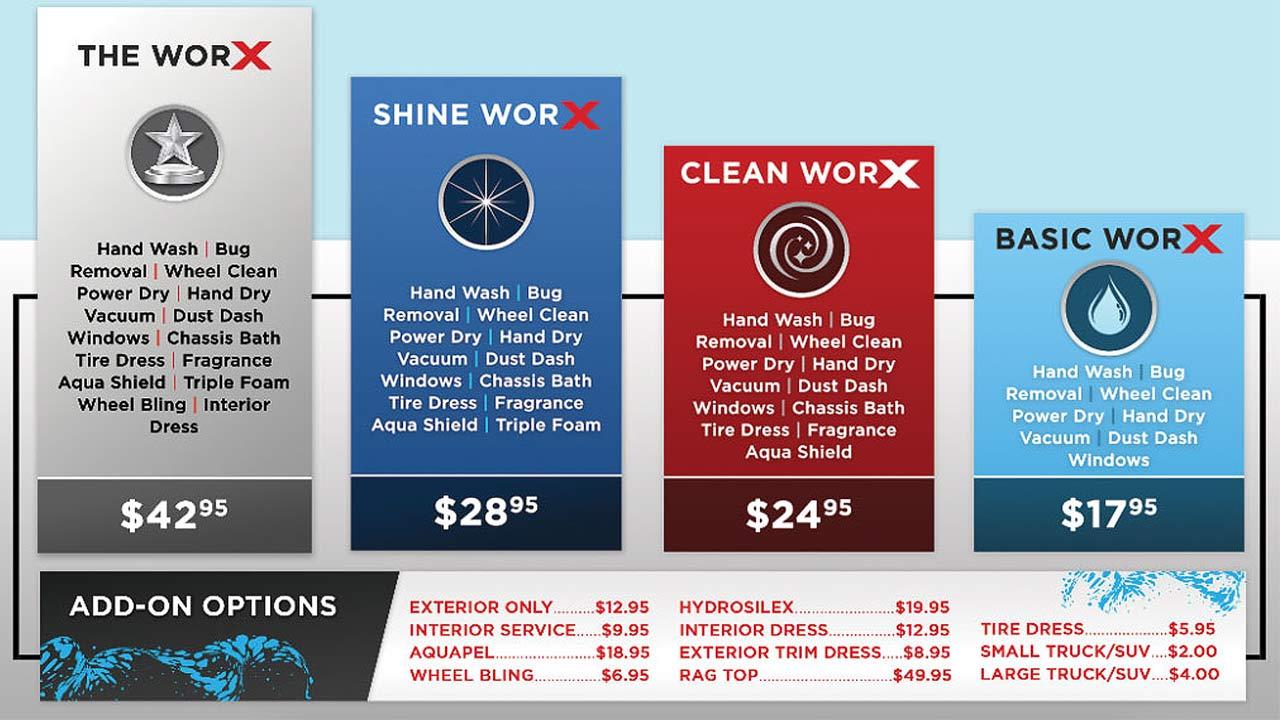 AutoworX Hand Car Wash and Detail Center Myrtle Beach SC Hand Car Wash Price List