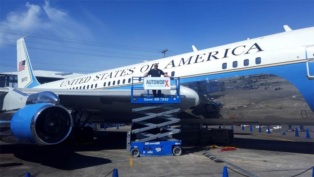 AutoworX Aircraft Detailing Wilmington NC Air Force One
