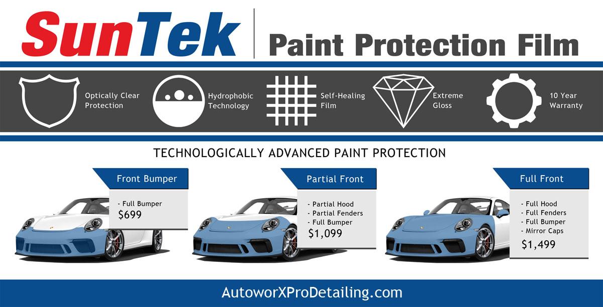 SunTek Paint Protection Film Installers Wilmington NC AutoworX Pro Detailing