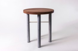 "George Motuliki: ""Silver Beech and Concrete Side Table"""