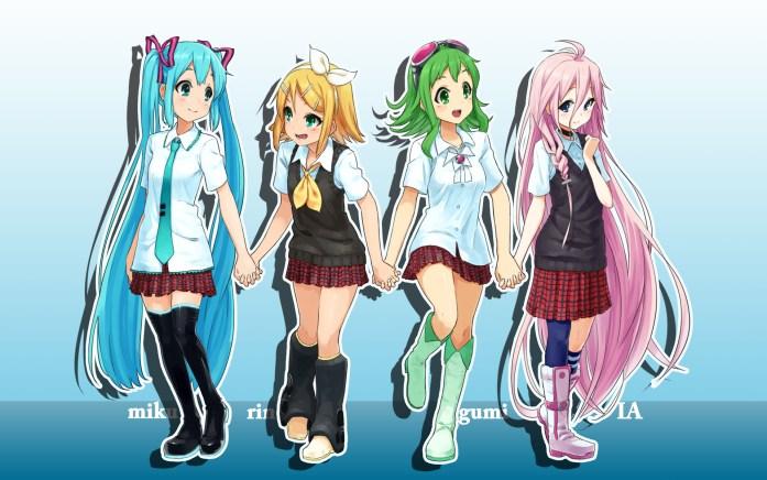 Vocaloid Hatsune, Rin, Gumi, IA
