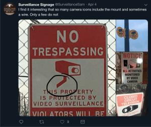 Screenshot from SurveillanceSam account showing camera mounts