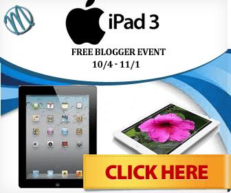 Ipad 3 Holiday Event (Free Blogger Opp!)