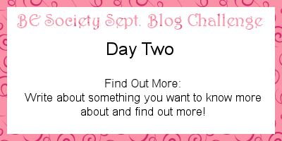 2/31 September @TheBESociety Blog Challenge- Find out More #besociety #beseptchallenge