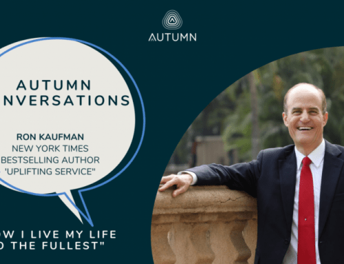 """Autumn Conversations: """"How I Live My Life To The Fullest"""" by Ron Kaufman"""