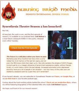Burning Brigid Responsive Email