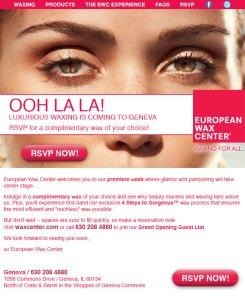 European Wax Center: Email Design