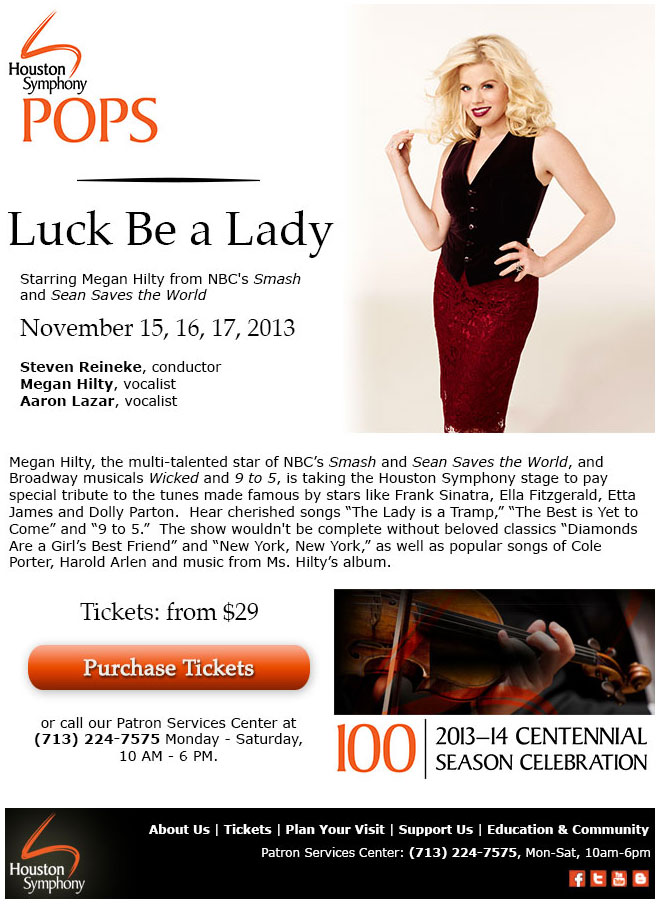 Houston Symphony: Email Design