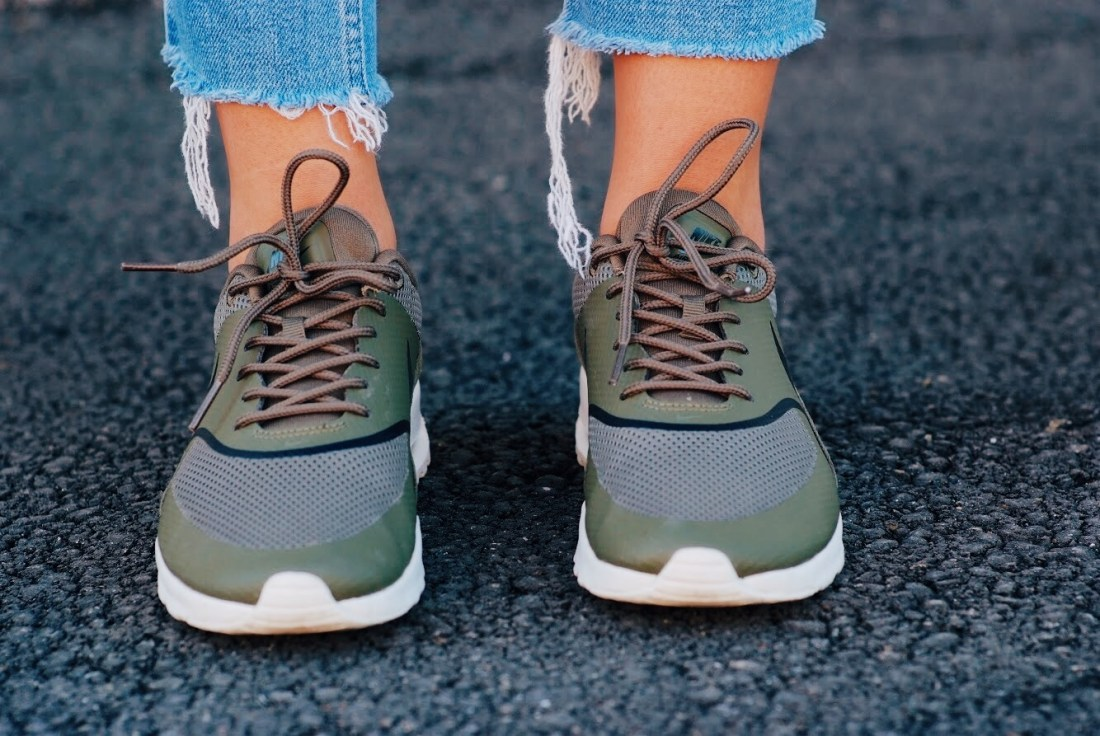 Nike Air Max Thea with cropped jeans