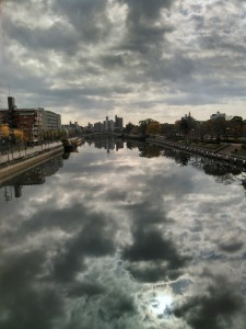 熱田記念橋から本日昼頃に撮影