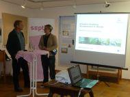 Referent Markus Grabher und Ruth Swoboda Geschaftsführerin des Vorarlberger Naturschutzrates sowie naturwissenschaftliche Leiterin der inatura .