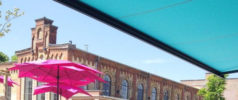 Blick von der Terrasse aufs Schlachtviertel