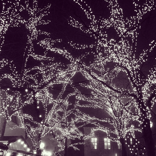 Bezaubernde Lichteffekte auf dem Friedberger Weihnachtsmarkt
