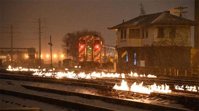 Chicago Commuter Train Tracks